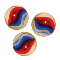 Lot de 3 boulards rouge blanc bleu - 35mm