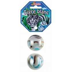 2 boulards Tigre Blanc 45 mm